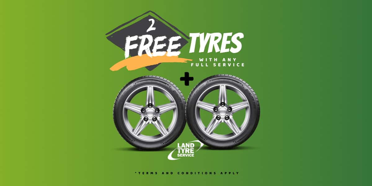 land tyre service two free tyres offer